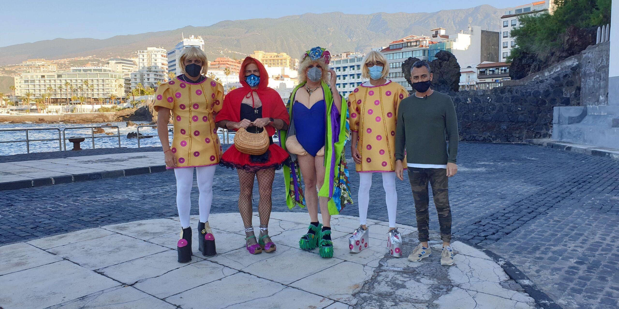Participantes de la carrera carnavalera Mascarita Ponte Tacón de Moving the Planet